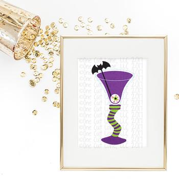 CF59 Halloween Cocktail Cut File