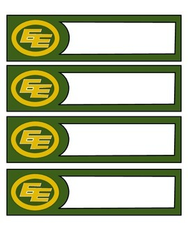 CFL Edmonton Eskimos - Classroom labels
