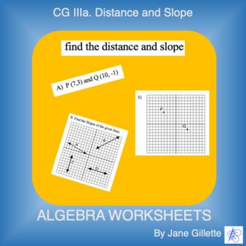 CG III: Distance and Slope