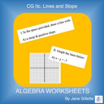 CG IIc: Lines and Slope