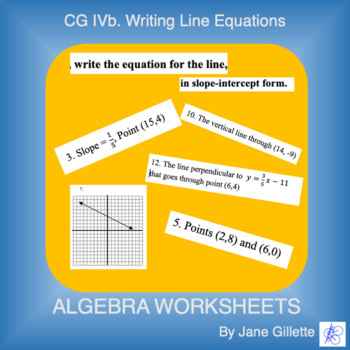 CG IVb: Writing Line Equations