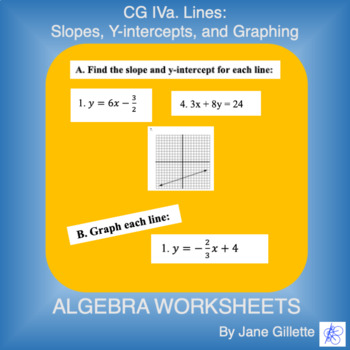 CG IVa. Lines: Slopes, Y-intercepts, and Graphing