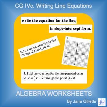 CG Ivc: Writing Line Equations
