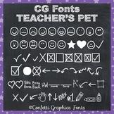 CG Teacher's Pet Font - Happy Sad Face - Behavior Chart - Worksheet - Emoji