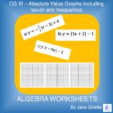 CG XI: Absolute Value Graphs including  ax+b  and inequalities