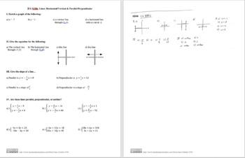 CG XIIIb: Lines: Horiz/Vert & Parallel/Perpendicular