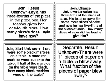CGI-2nd Grade Fractions Word Problems (Cognitively Guided Instruction)