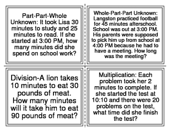 CGI-2nd Grade Telling Time Word Problems (Cognitively Guided Instruction)