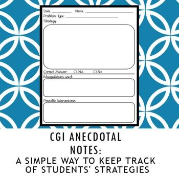 CGI Anecdotal Notes