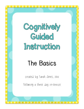CGI (Cognitively Guided Instruction) Basics