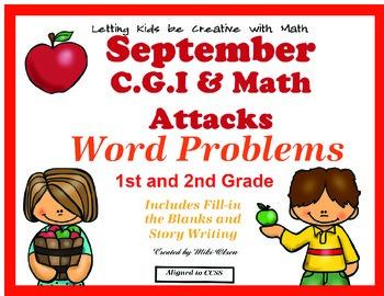 C.G.I  & Math Attacks Common Core September Combo Pack!