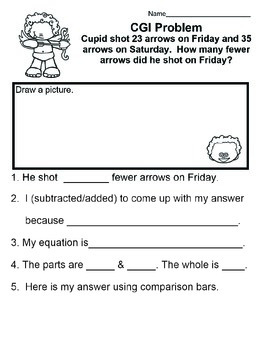 C.G.I February Common Core Math Word Problems