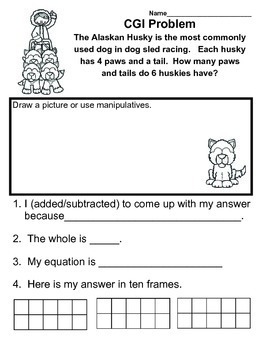 C.G.I January Common Core Math Word Problems