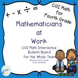 CGI Math Interactive Bulletin Board Fourth Grade