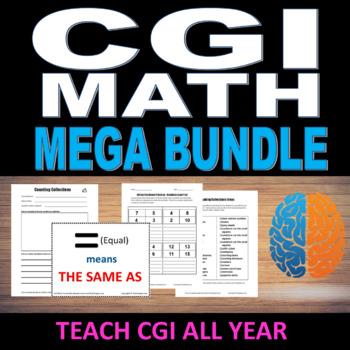CGI Math Mega Bundle.  Whole Year of CGI instruction for your school.