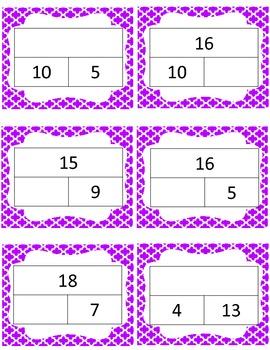 Math Story Problem Matching Game