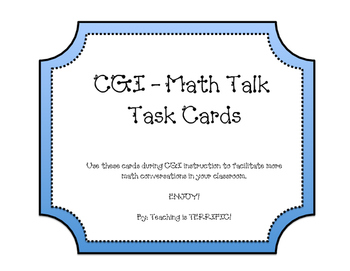 CGI Math Talk Conversation Task Cards