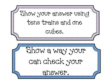 CGI Math Talk Conversation Task Cards