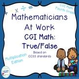 CGI Math Number Talks: True False Multiplication Edition F