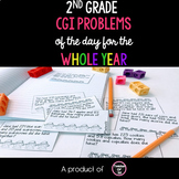 CGI Problem of the Day 2nd Grade: September to May Bundle {Math Word Problems}