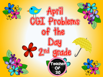 Spring CGI Math Word Problem of the Day {April} 2nd Grade