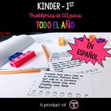 CGI Math Word Problem of the Day K-1st Spanish