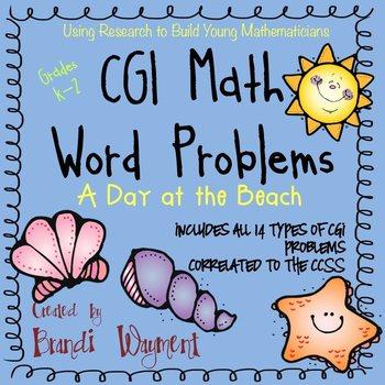 CGI Math Word Problems - A Day at the Beach