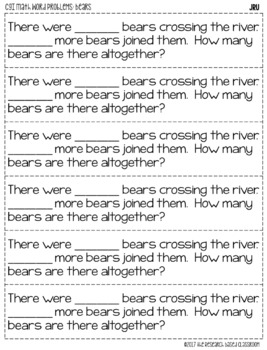 CGI Math Word Problems: Bears