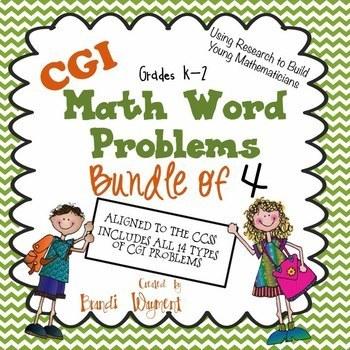 CGI Math Word Problems - Bundle of 4