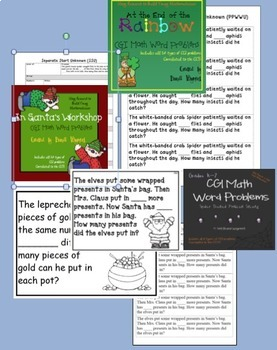 CGI Math Word Problems - Bundled Set