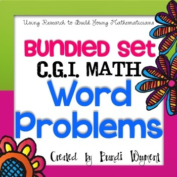 CGI Math Word Problems - Bundled Set