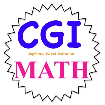CGI Math word problems for Kindergarten- 1st set-WITH KEY-- Common Core friendly
