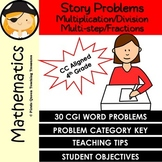 Mathematical CGI Word Problems/Multiplication, Division, M