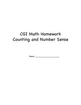 CGI Number Sense Packet 1-10
