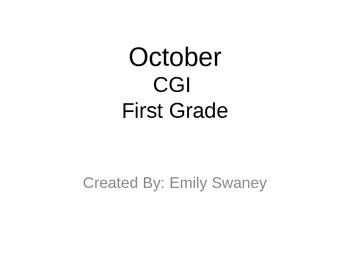 CGI October theme First Grade