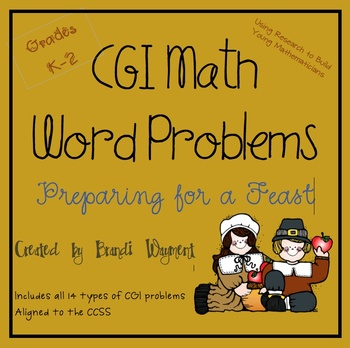 CGI Preparing for the Feast Math Word Problems