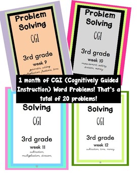 CGI Problem Solving Weeks 9-12 Bundle!