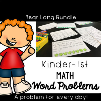 CGI Problem of the Day K-1st: September to May Bundle {Math Word Problems}