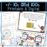 ADDING AND SUBTRACTING 10S AND 100S ACTIVITIES, ASSESSMENTS, WORKSHEETS, AND MOR