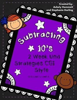 CGI STYLE FIRST GRADE UNIT OF SUBTRACTING MULTIPLES OF 10