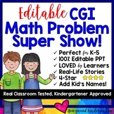 Math Problem Solving Show! 100% editable word problems! 10