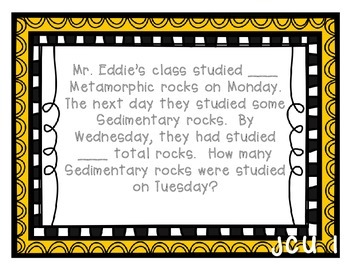 CGI TASK CARDS: Problems about Rocks and Minerals