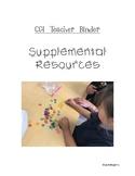 CGI Teacher Binder Resources