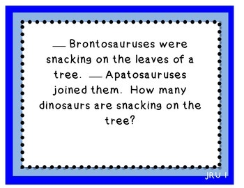 CGI Word Problem TASK CARDS: Problems about Dinosaurs and Fossils