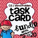 CGI Word Problem Task Card Bundle -  Numbers to 20