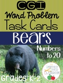 CGI Word Problem Task Cards: Bears
