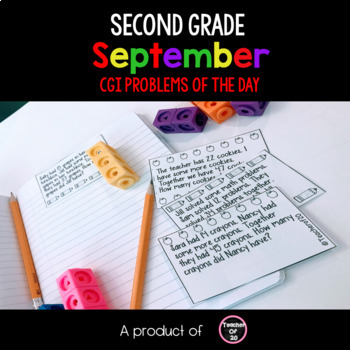 #backwithboom Math Word Problem of the Day {Back to School} 2nd Grade