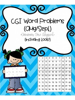 CGI Word Problems (August & September) Common Core Aligned (Including tools)