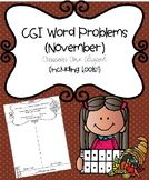 CGI Word Problems (November) Common Core Aligned (including tools)