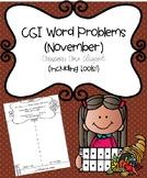 CGI Word Problems (November) Common Core Aligned (includin